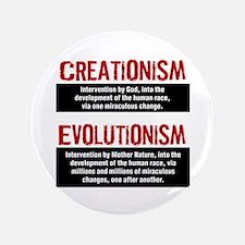 "Creationism vs. Evolutionism 3.5"" Button"