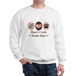 Peace Love Great Dane Sweatshirt