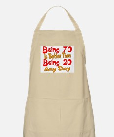 Being 80 better then 20 BBQ Apron