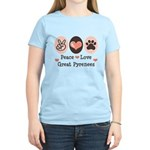 Peace Love Great Pyrenees Women's Light T-Shirt