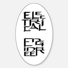 Electrical Engineer Oval Decal