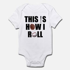 This Is How I Roll Baseball Infant Bodysuit