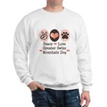 Peace Love Swiss Mt Dog Sweatshirt