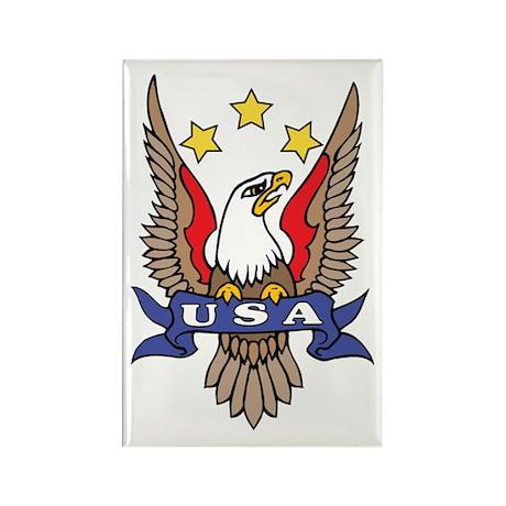 USA Eagle Tattoo Rectangle Magnet (100 pack)