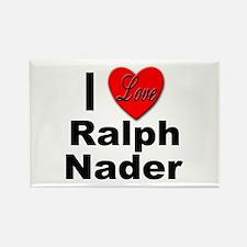 I Love Ralph Nader Rectangle Magnet