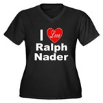 I Love Ralph Nader (Front) Women's Plus Size V-Nec