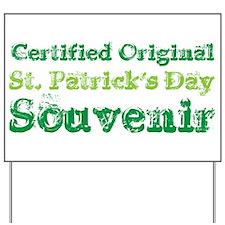 Official St. Patrick's Day Souvenir Yard Sign