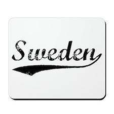 Vintage Sweden (Black) Mousepad