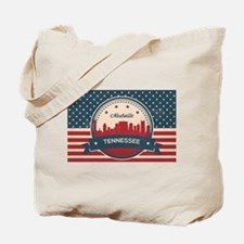 Retro Nashville Tennessee Skyline Tote Bag