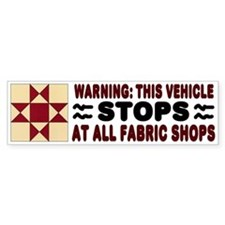 Quilters Bumper Stickers