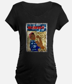 african rosie the riveter Maternity T-Shirt