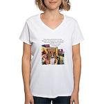 Basenji Art Women's V-Neck T-Shirt