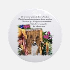 Basenji Art Ornament (Round)