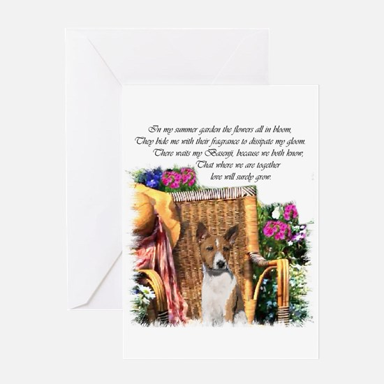 Basenji Art Greeting Card