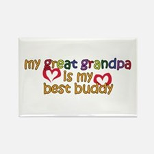 Great Grandpa is My Best Buddy Rectangle Magnet