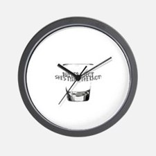 Cute Bride to be glass Wall Clock
