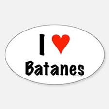 I love Batanes Oval Decal