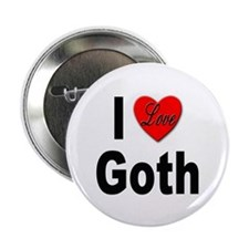 "I Love Goth 2.25"" Button"