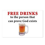 Free Drinks Postcards (Package of 8)