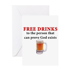 Free Drinks Greeting Card