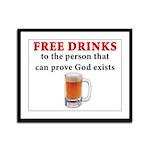 Free Drinks Framed Panel Print