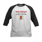 Free Drinks Kids Baseball Jersey