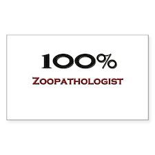 100 Percent Zoopathologist Rectangle Decal