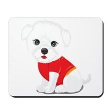 Cute and Cuddly Poodle Mousepad