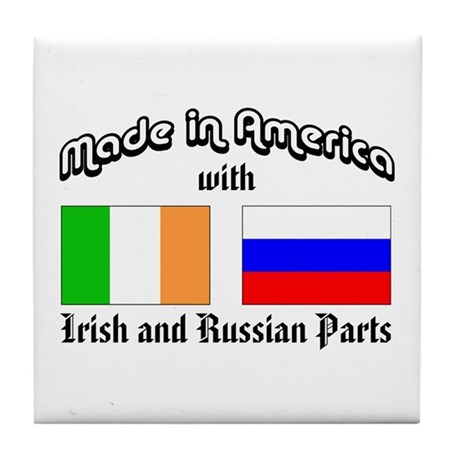 Irish-Russian Tile Coaster
