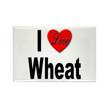 I Love Wheat Rectangle Magnet