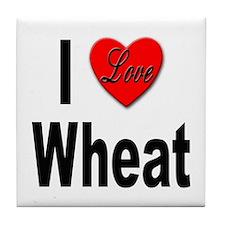 I Love Wheat Tile Coaster