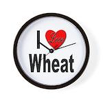 I Love Wheat Wall Clock