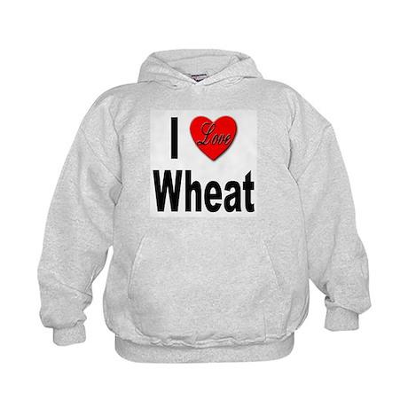I Love Wheat Kids Hoodie