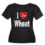 I Love Wheat (Front) Women's Plus Size Scoop Neck