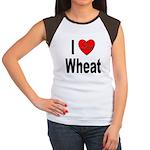 I Love Wheat (Front) Women's Cap Sleeve T-Shirt