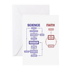 Science vs Faith Greeting Cards (Pk of 10)