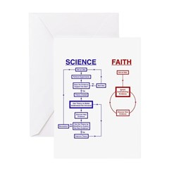 Science vs Faith Greeting Card