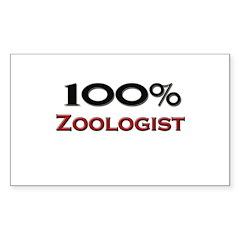 100 Percent Zoologist Rectangle Sticker