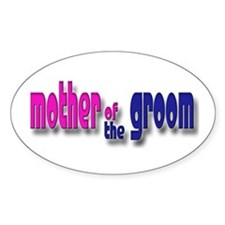 Mother of the Groom Casual #1 Oval Decal