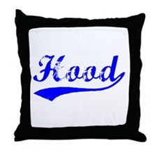 Vintage Hood (Blue) Throw Pillow
