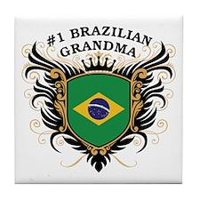 Number One Brazilian Grandma Tile Coaster