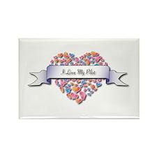 Love My Pilot Rectangle Magnet (100 pack)