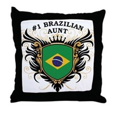 Number One Brazilian Aunt Throw Pillow