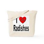 I Love Radishes Tote Bag