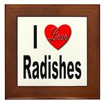 I Love Radishes Framed Tile