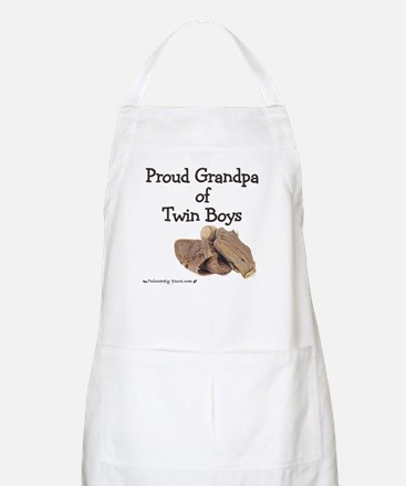 Proud Grandpa of Twin Boys Baseball BBQ Apron