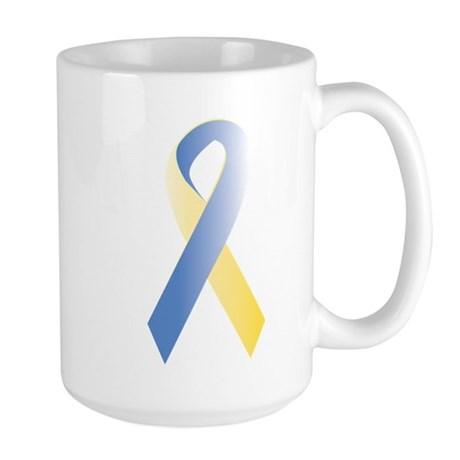 BlueYellow Ribbon Large Mug