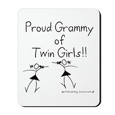 Proud Grammy of Twin Girls Stick Mousepad