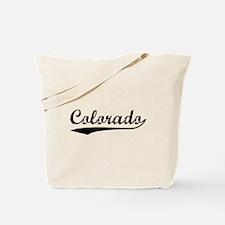 Vintage Colorado (Black) Tote Bag