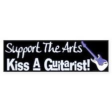 Kiss a Guitarist! Bumper Car Sticker